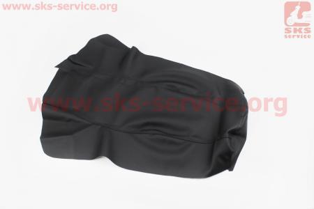Чехол сидения (эластичный, прочный материал) черный, тип 2 для мотоцикла Loncin KINLON JL150