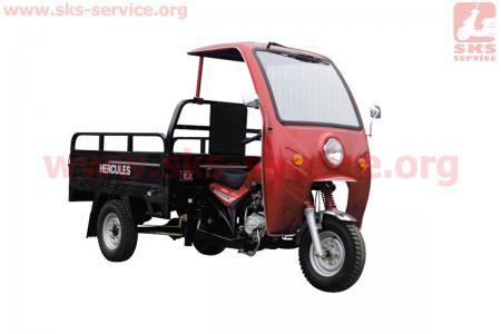 Кабина с дворником и поворотами, КРАСНЫЙ (присутствуют небольшие царапины) для грузового мотоцикла Viper - ZUBR