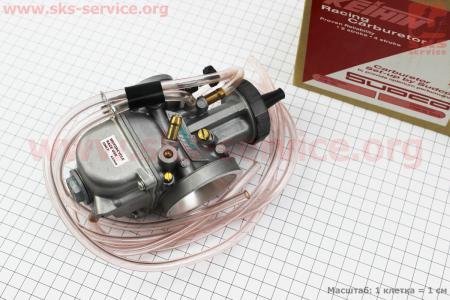 Карбюратор SPORT PWK 36 (d=36mm) с мех. заслонкой, оригинальный для мотоциклов разных моделей (Китай, импорт)