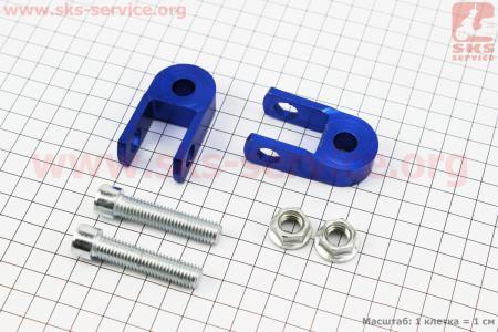 Удлинитель заднего амортизатора 30мм к-кт 2шт + болты + гайки, синий