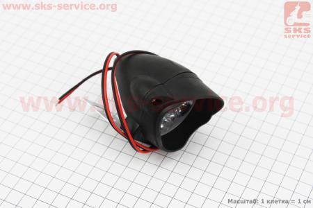 """Фара дополнительная светодиодная влагозащитная - 6 LED с креплением """"капля""""  52*52мм"""