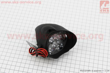 """Фара дополнительная светодиодная влагозащитная - 9 LED с креплением """"капля""""  66*68мм"""