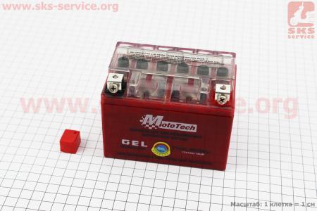Аккумулятор 4Аh YTX4L-BS гелевый (L113*W70*H85 mm), 2019