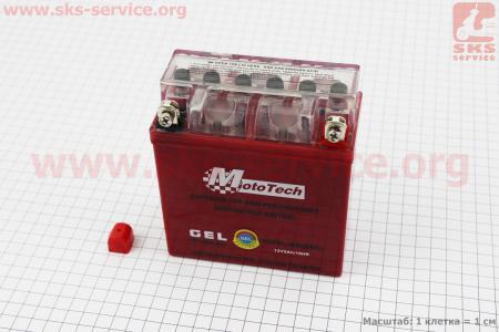 Аккумулятор 5Аh 12N5L-BS гелевый Active (L120*W60*H125 mm), 2019