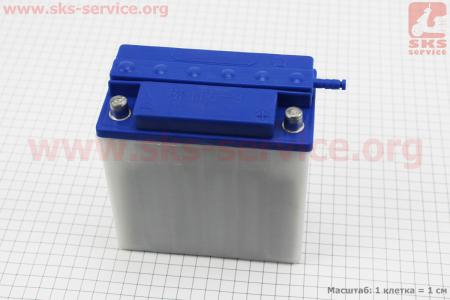 Аккумулятор 12V/9Аh, 6МТС-9 (кислотный, сухой, круглая клема) 140/75/140мм, МТ,ИЖ, 2019