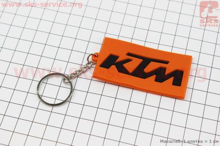 """Брелок """"KTM"""", резиновый 63х34мм"""