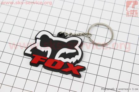 "Брелок ""FOX"", резиновый 57х36мм"