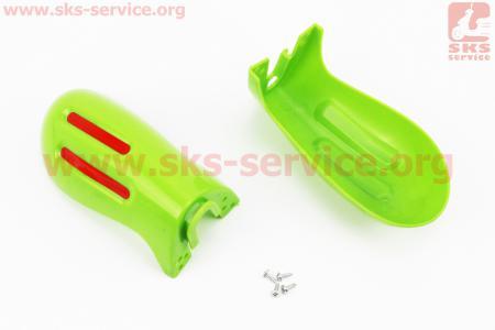 пластик - защита для рук лев., прав. к-кт 2шт, ЗЕЛЕНЫЙ для скутеров GRAND PRIX (Viper)