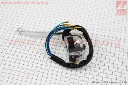 Блок кнопок на руле левый с рычагом (под зеркала М10) DELTA для мопеда Delta (Viper)