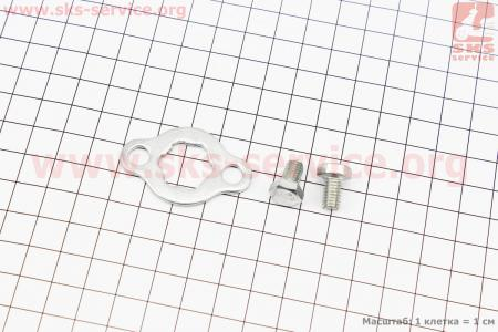 Шайба фиксатор передней звезды + болты для мопеда Delta (Viper)