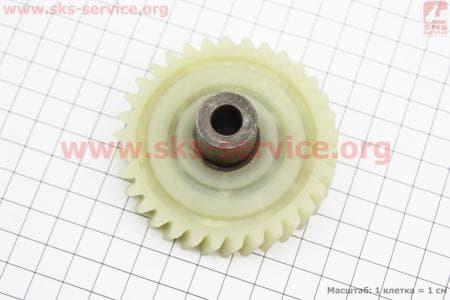 Шестерня привода ведомая (D=74мм, d1=10мм, d2=20мм, H=33,5мм, Z=33 наклон зубов вправо) Vorskla для электропил