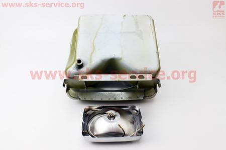 Бак топливный R190N, 265x220x165мм, выст. горловина, отверстие под шланг топливный + фара З/ч на двигатель дизельный R190N(NM)/R195N(NM)