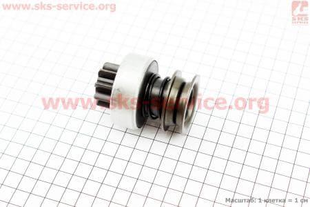 Бендикс электростартера Z=9, Lзуба=12,5мм R190N/195NM З/ч на двигатель дизельный R190N(NM)/R195N(NM)
