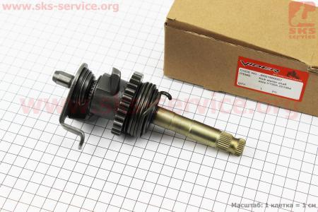 Вал кик-стартера в сборе CG-150/200, тип 2 на двигатель CG125-250cc (с толкателями), на ZUBR