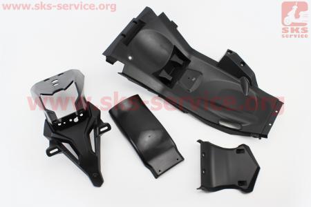 Loncin- LX250GY-3 пластик - крыло заднее к-кт 4шт для мотоциклов разных моделей (Китай, импорт)
