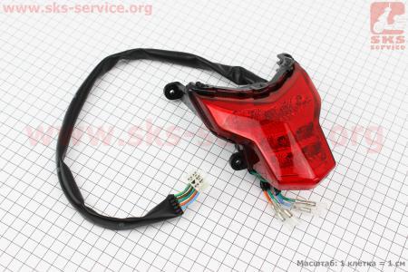 Loncin- LX250GY-3 Фонарь задний для мотоциклов разных моделей (Китай, импорт)