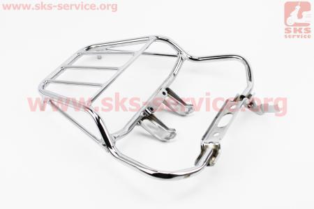Viper - V200 Багажник задний метал, ХРОМ для мотоциклов разных моделей (Китай, импорт)