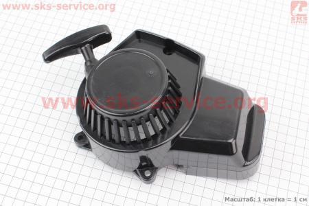 ATV детский - Крышка двигателя с ручным стартером в сборе (пластик), тип. 2 на ATV-квадроциклы разных моделей (Китай, импорт)