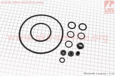 Ремонтный комплект резиновых деталей МТ, кольца двигателя, 12шт на мотоцикл Днепр МТ, УРАЛ