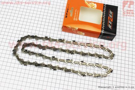 """Цепь 3/8""""-1,3mm-56зв. квад. зуб (на Partner-16""""), упаковка REZER, отличное качество"""