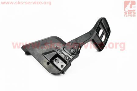 Ручка тормоза в сборе 4500/5200 - косая, металл Тип №2 для китайских бензопил