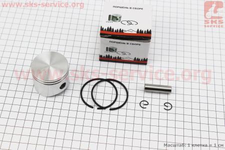 Поршень, палец, кольцо, к-кт 45мм (палец 10мм) для бензопил Oleo-Mac 952