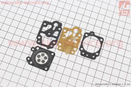Ремонтный комплект карбюратора 1E40F-1E44F, 4 детали для мотокосы