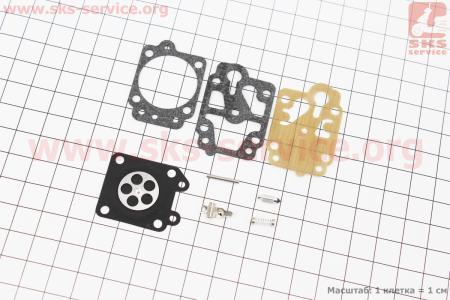 Ремонтный комплект карбюратора 1E40F-1E44F, 8 деталей для мотокосы