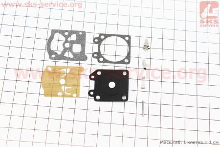 Ремонтный комплект карбюратора ОLEO MAC SPARTA 37/38/42/44, 8 деталей для мотокосы