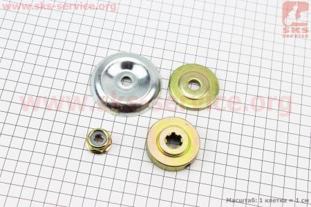 Ремонтный комплект нижнено редуктора (гайка, шайба, фланцы), к-кт 3шт для мотокосы