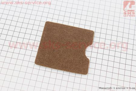 Фильтр воздушный - элемент квадратный, войлок двухслойный для мотокосы