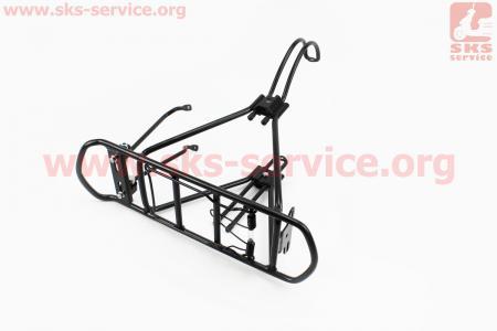 """Багажник 24 - 26"""" алюминий, цельносварной, под дисковый тормоз, черный тип 2 для велосипедов"""