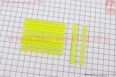 Светоотражатели на спицы 5х75мм, 12шт к-кт, желтые JY-1201 для велосипедов