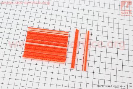 Светоотражатели на спицы 5х75мм, 12шт к-кт, оранжевые JY-1201 для велосипедов