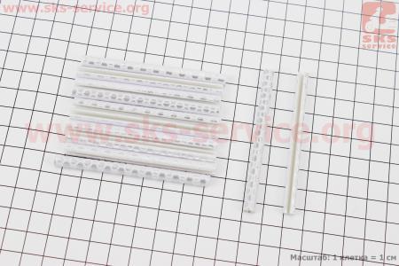 Светоотражатели на спицы 5х75мм, 12шт к-кт, серые JY-1201 для велосипедов