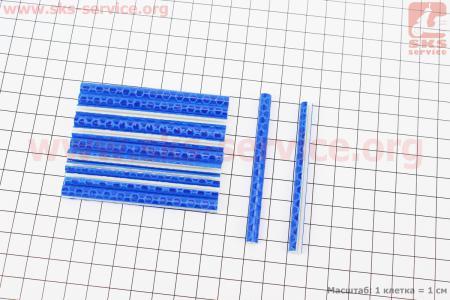 Светоотражатели на спицы 5х75мм, 12шт к-кт, синие JY-1201 для велосипедов