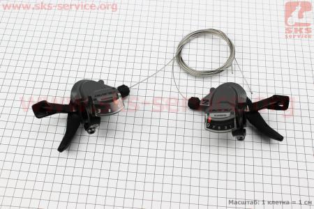 """Переключатель """"манетка"""" левый (3ск)+правый (9ск) к-кт, черно-серые ALIVIO SL-M4000 для велосипеда"""
