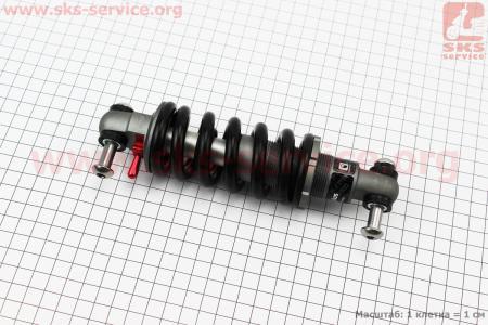 Амортизатор открытый 165мм регулируемый, с ходом 38 мм, гидравлический, M Lockout, черный K-PLUS для велосипеда