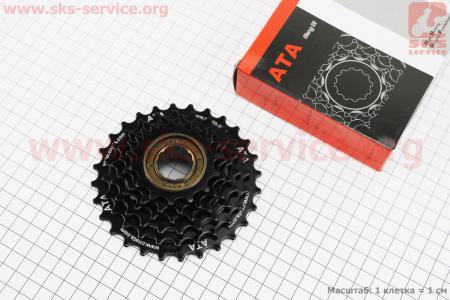 Вольнобег 6зв. 28,24,21,18,16,14Т, черный KDF-602 для велосипеда