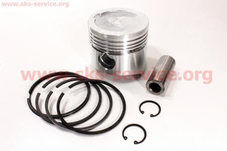 Поршень, кольца, палец к-кт R190N 90мм STD (с выборкой под клапана) З/ч на двигатель дизельный R190N(NM)/R195N(NM)