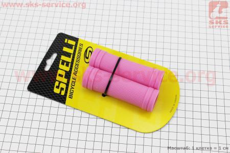 Рукоятки руля 90мм на детский велосипед к-кт, розовые SBG-660S для велосипеда