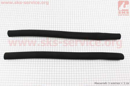 """Ручки руля """"TREKKING"""" 500мм, поролоновые, черные для велосипеда"""
