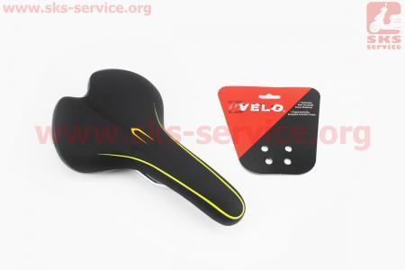 Сиденье на MTB, черно-салатовое VL-4249 для велосипеда