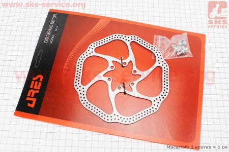 Тормозной диск 160мм, под 6 болтов, SX16 для велосипеда