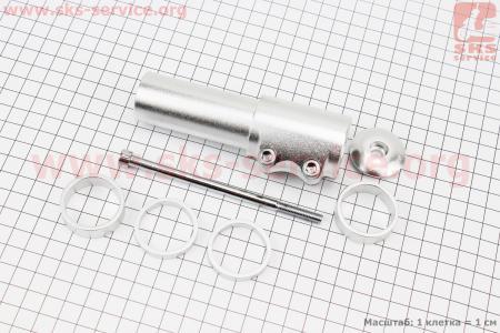 """Удлинитель штока вилки 1 1/8"""" (28.6 мм)х120mm в сборе, алюминиевый, серый HR-117 для велосипеда"""
