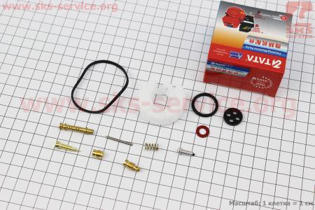 Ремонтный комплект карбюратора, 12 деталей+поплавок 168F/170F для мотоблока