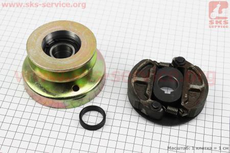 Шкив-муфта сцепления (D=85мм под коленвал Ø25мм, два паза под ремень SPB) 173F/177F/182F/188F/190F для мотоблока