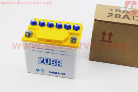 Аккумулятор 12V/18Аh 6-MQA-18 (кислотный, сухой) 175/125/185мм для дизельного двигателя  F178/ F186 - 6/9 л.с.