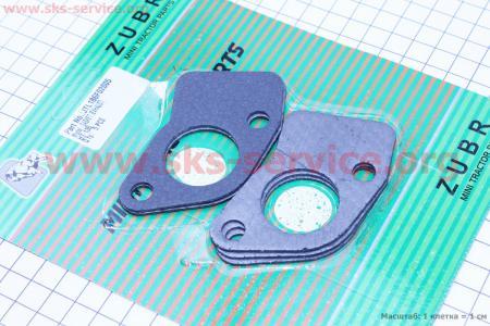 Прокладка глушителя 178F/186F Тип №2, к-кт 5шт, на блистере для дизельного двигателя  F178/ F186 - 6/9 л.с.
