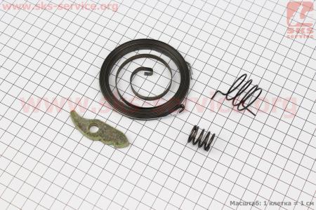 Ремонтный комплект ручного стартера (кулачок-1шт, пружина-3шт) 186F для дизельного двигателя  F178/ F186 - 6/9 л.с.